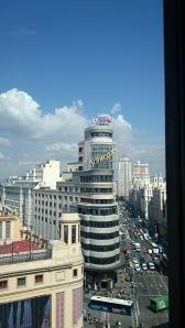 Terrazas. Gran Vía. Madrid. Miss 500 Días.